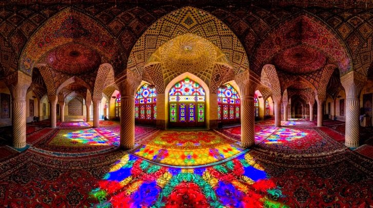 1 – Nasir al Molk Mosque, Shiraz, Iran - 11 Architectural Places You Should See Even Once in Your Life!