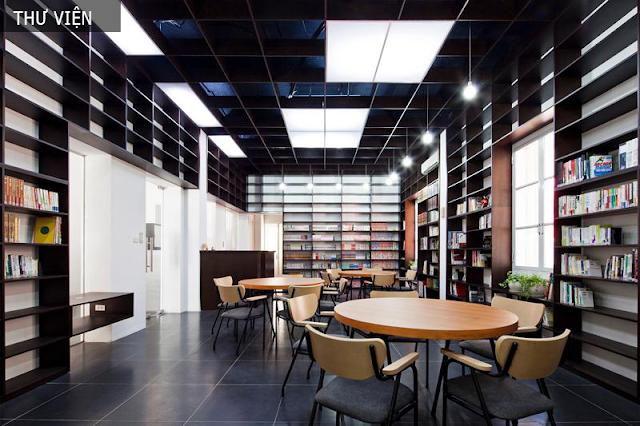 Thư viện tại tháp Doanh nhân