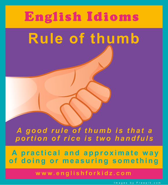 English idiom picture - rule of thumb