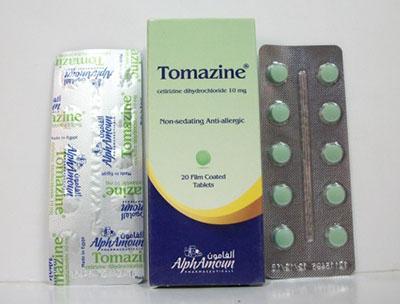 سعر ودواعى إستعمال تومازين Tomazine أقراص شراب مضاد للحساسية والالتهابات