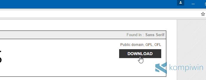 download font baru di laptop