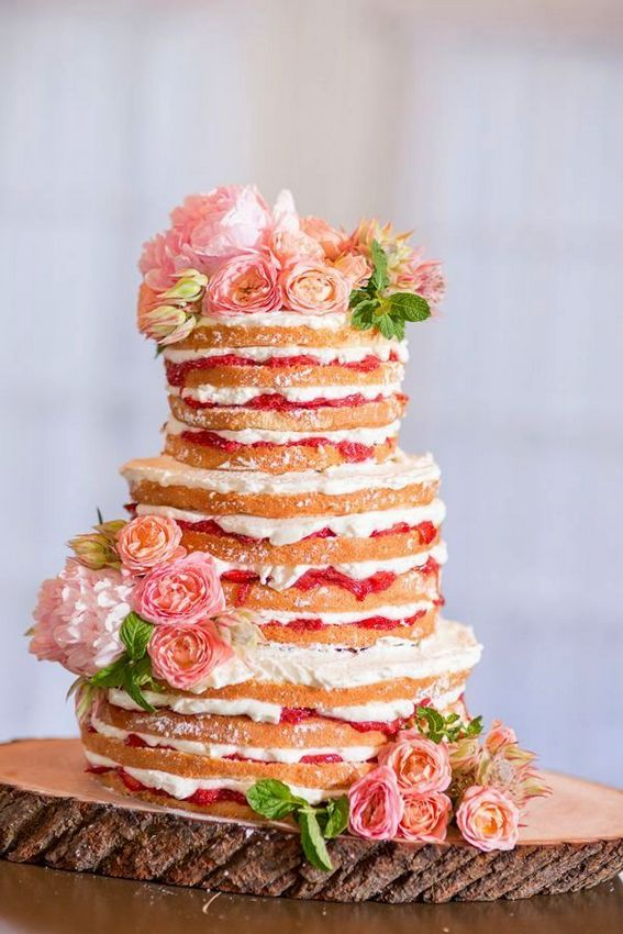 Perfect and Fascinating Strawberry Shortcake Wedding Cakes in