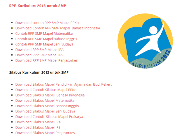 Contoh RPP dan Silabus  Kurikulum 2013 SD SMP SMA