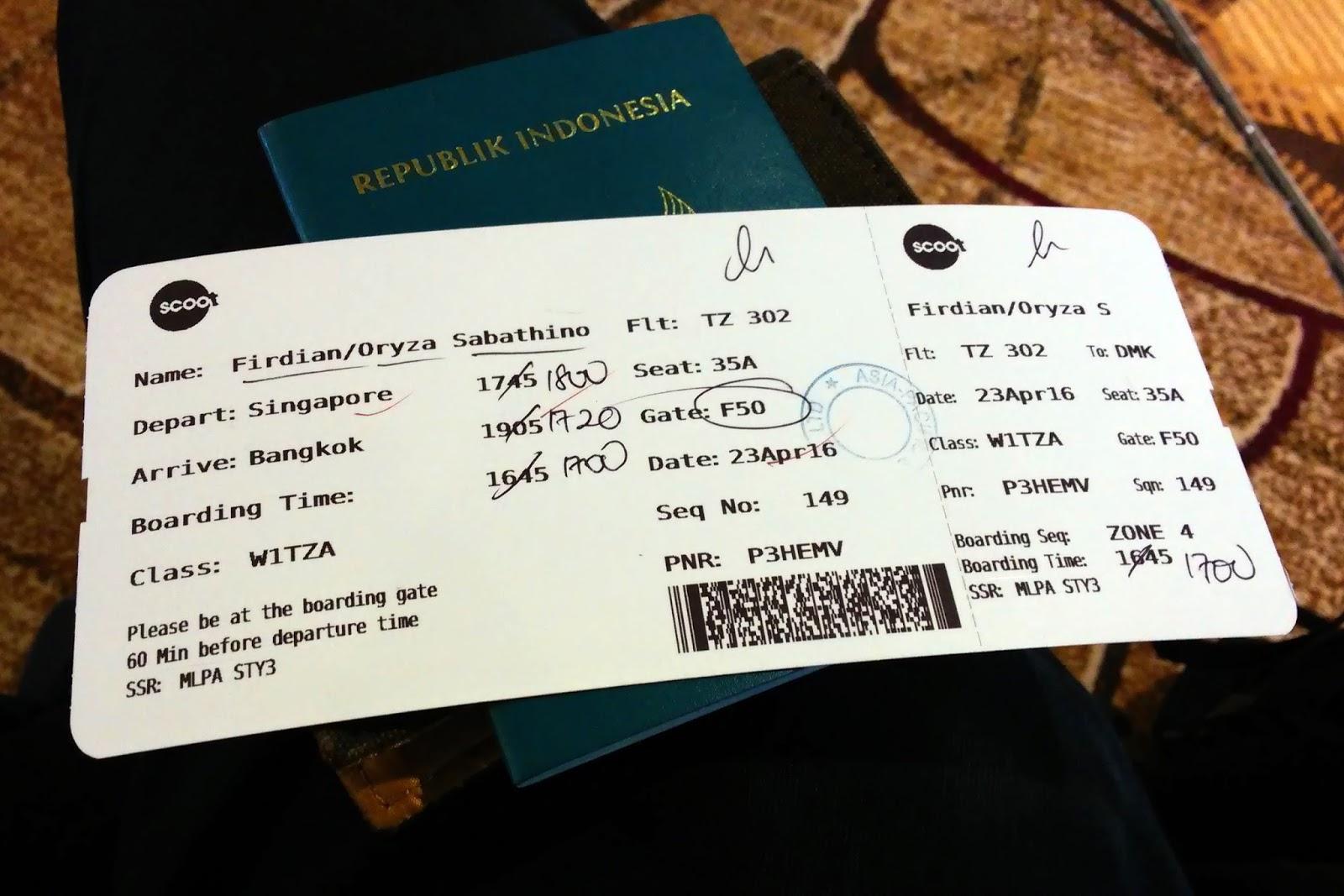 Mantra Senja Flight Report Scoot Tz302 Singapore Bangkok