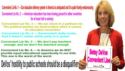 Image result for betsy devos lies