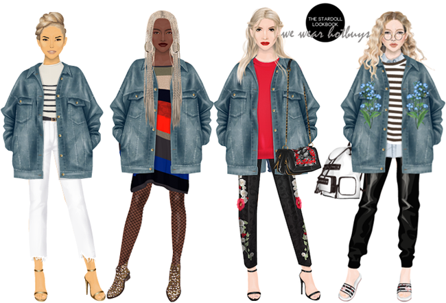 The Stardoll Lookbook We Wear Hotbuys J U N E Loose Fit Denim Jacket