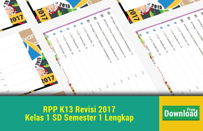 RPP K13 Revisi 2017 Kelas 1 SD