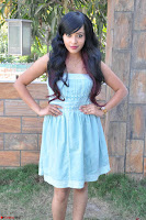 Sahana New cute Telugu Actress in Sky Blue Small Sleeveless Dress ~  Exclusive Galleries 049.jpg