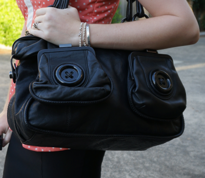 Mimco black button bag