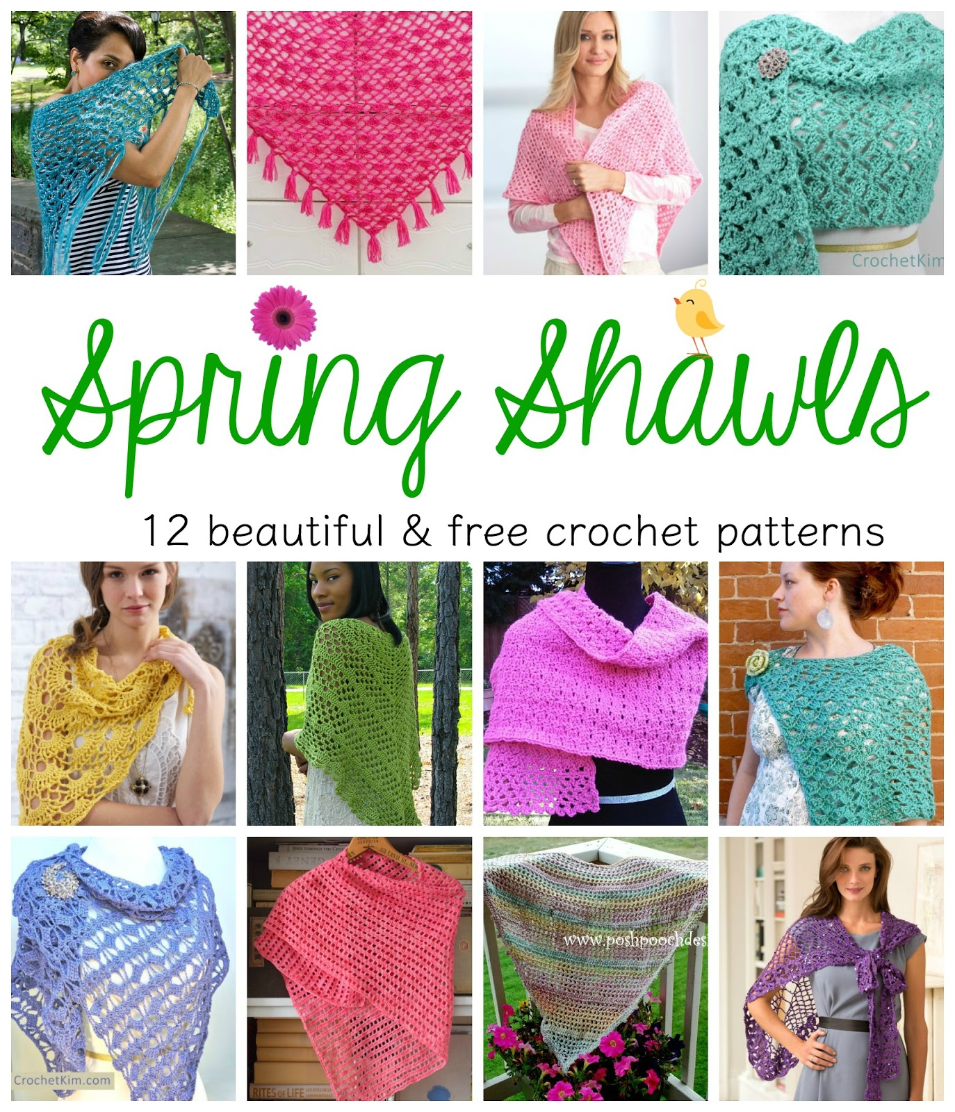 Free Crochet Shawl Patterns For Spring : Fiber Flux: Spring Shawls! 12 Beautiful & Free Crochet ...