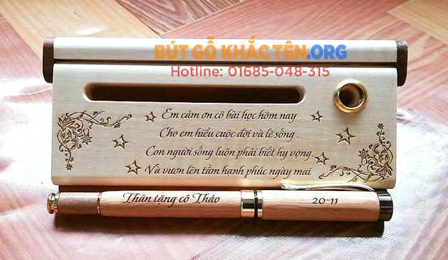 Bút gỗ Quà tặng thầy cô ý nghĩa nhân dịp 20/11