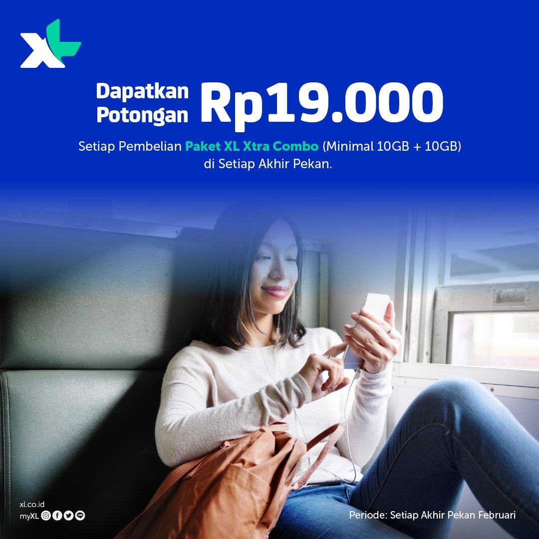 #XL - #Promo Potongan 19 RIbu Setiap Beli Paket XL Xtra Combo (Weekend)