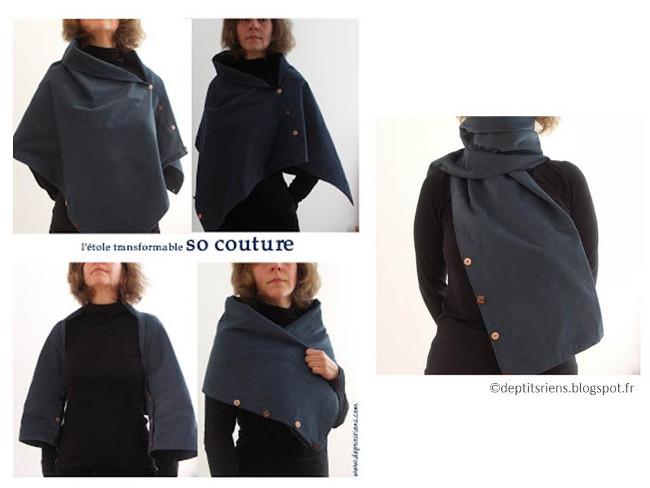 patron couture echarpe