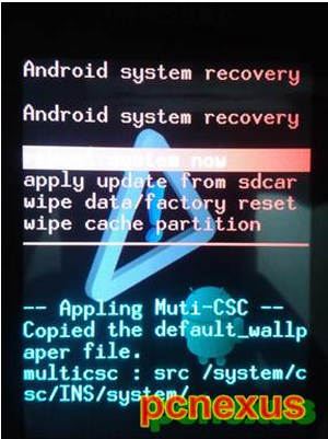 note 2 recovery mode