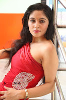 Actress Zahida Sam Latest Stills in Red Long Dress at Badragiri Movie Opening .COM 0167.JPG