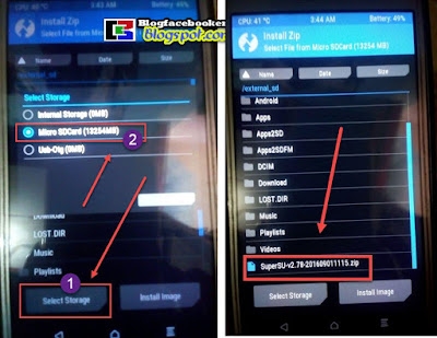 cara menginstal superSU di memory card hp android