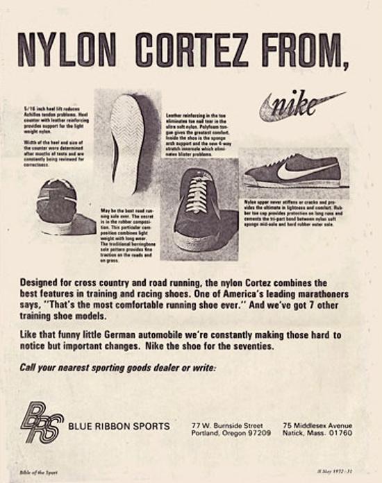 Nike Cortez Ad 1972