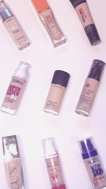 My Makeup Collection - Foundations