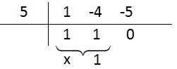 divisão por briot ruffini equação 1