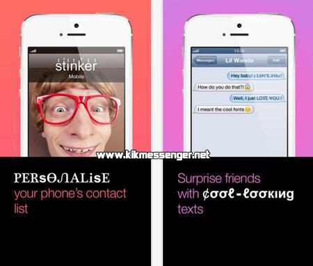 Transforma los textos de tus mensajes con Fontsy for Kik en tu iPhone