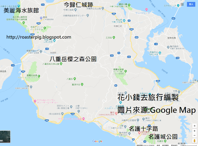沖繩賞櫻景點地圖