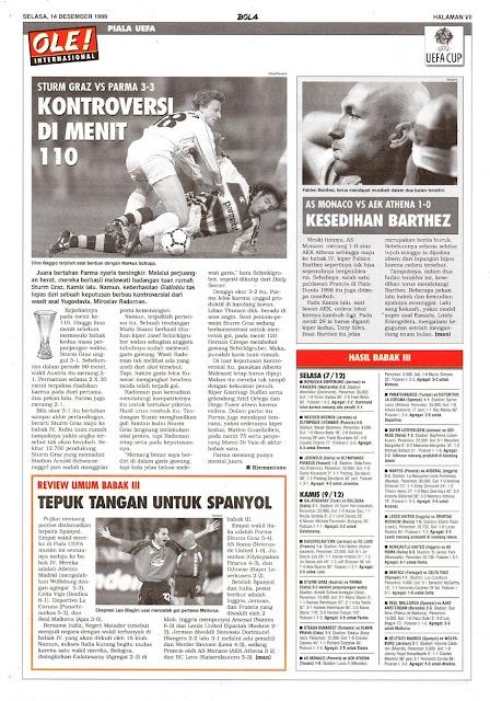 UEFA CUP STURM GRAZ VS PARMA 3-3