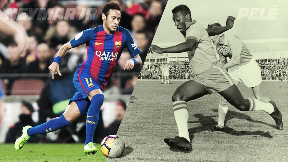 BRASILFCB  Neymar Jr. iguala os números de Pelé aos 25 anos atuando na Seleção  Brasileira 663b1899e3fb5