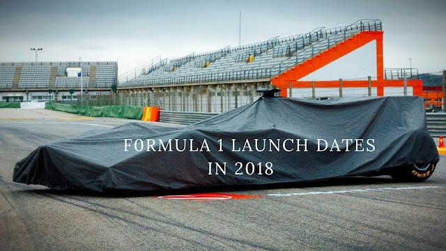 Formula 1 launch dates 2018