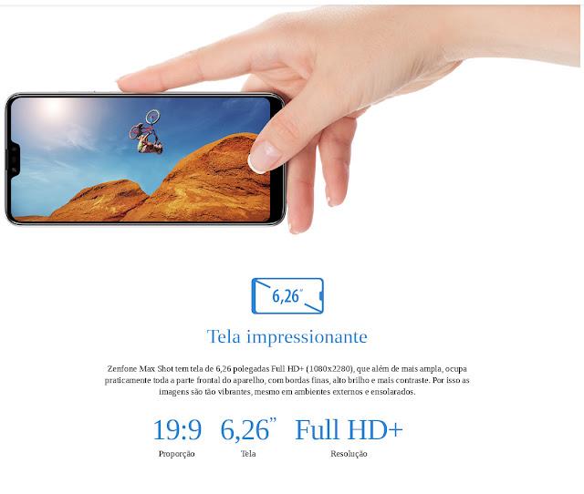 Asus ZenFone Max Shot Tela Impressionante