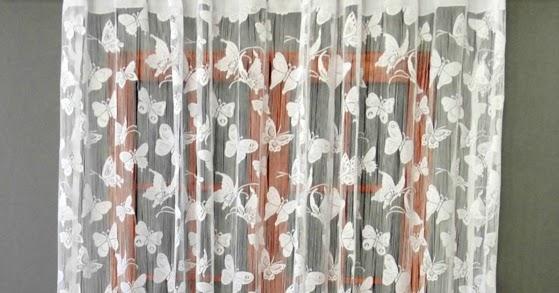 Dekoracje Dla Domu Gotowe Firanki żakardowe 180x300 Motylki