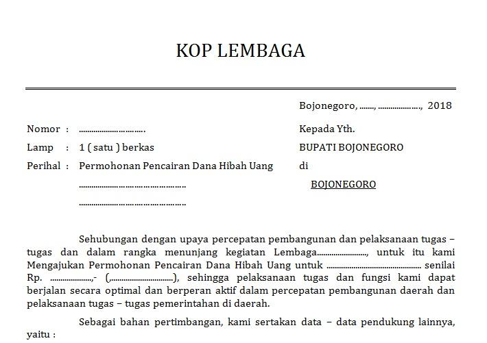 Contoh Proposal Pencairan Dana Hibah Dari Bupati Mtss