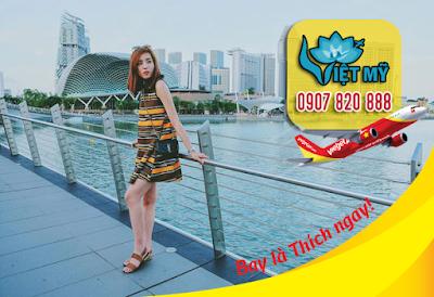 Vé máy bay đi Singapore hãng Vietjet Air