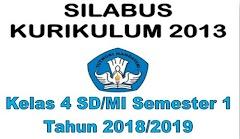 Silabus Kelas 4 SD/MI Semester 1 Kurikulum 2013 Tahun 2018/2019 - Guru Krebet 3