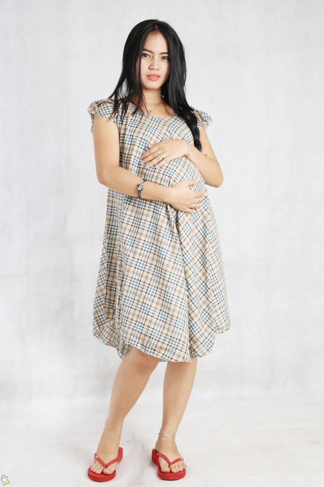 Baju Gamis Hamil Modern