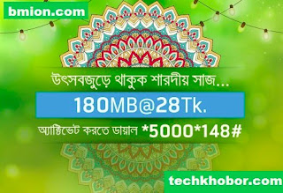 Grameenphone-180MB-3Days-28Tk-Dial-*5000*148#