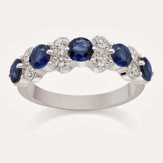 Blue Sapphire Wedding Ring 96 Great Diamond and Blue Sapphire