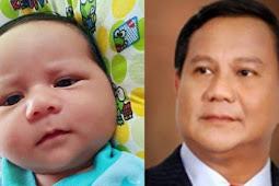 Foto Seorang Bayi yang Mirip Capres 02 Prabowo Subianto Viral di Media Sosial