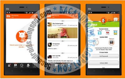 BBM MOd MIUI Style Apk Terbaru