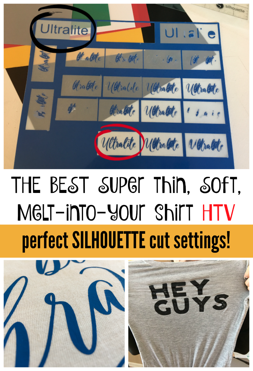 Thin and Soft Heat Transfer Vinyl! The Best Cut Settings for