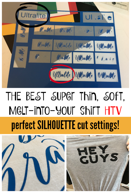 cut settings, silhouette cameo, silhouette heat transfer vinyl, easyweed