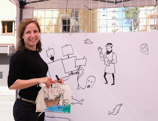 Eva Barceló ilustración cartel exploración humanidad