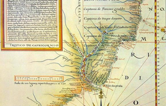 Mapa Divisão de Capitanias