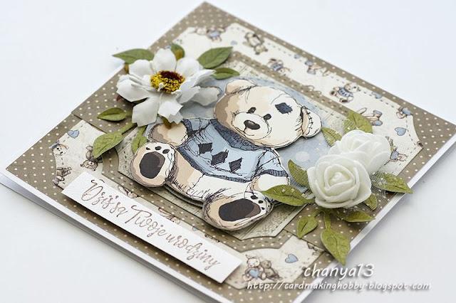 Kartka z okazji urodzin maluszka