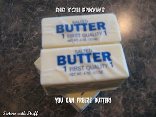 You can freeze butter