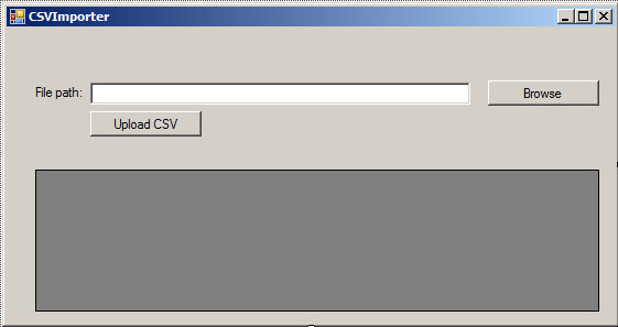 Import a CSV file in C# Windows Form Application