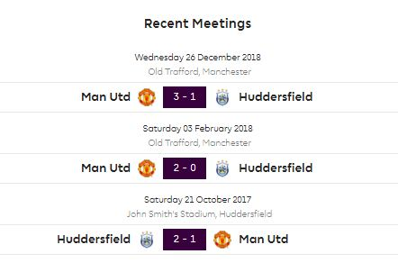 Huddersfield Town vs Manchester United
