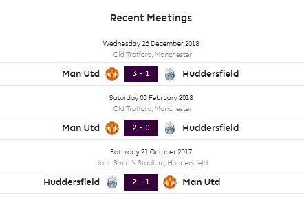 Huddersfield Town vs Manchester United