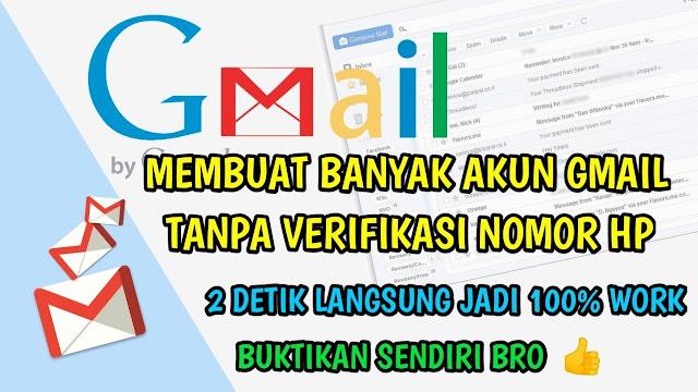 Cara Buat Akun Gmail Banyak Tanpa Nomor HP dan Tanpa Verifikasi Terbaru 2019