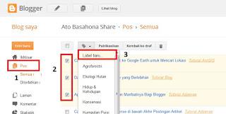 Cara Mudah Membuat Kategori/Label Postingan atau Artikel Blog di Blogspot