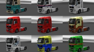 Japan Companies pack skins for MAN TGX